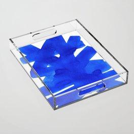 Superwatercolor Blue Acrylic Tray