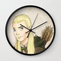legolas Wall Clocks featuring Legolas by Joan Pons