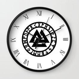 Valknut Wall Clock