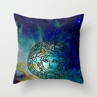 versace Throw Pillows featuring Versace Nebula  by RickyRicardo787