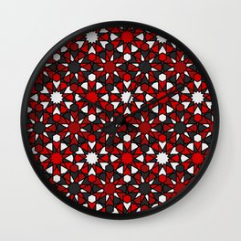 Al-Nasir Red and Grey Wall Clock