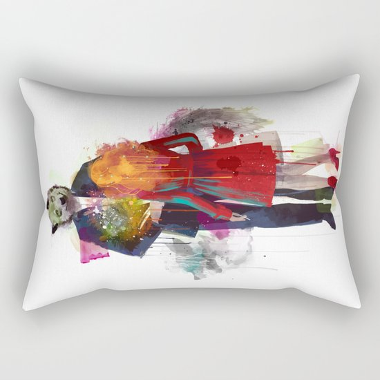 Red Riding, I Am Not Your Wolf Rectangular Pillow