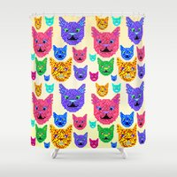 kit king Shower Curtains featuring Kit-Pix by Pruko