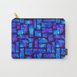 Blue watercolor brush Carry-All Pouch