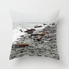Driftwood Beach after the Storm Throw Pillow