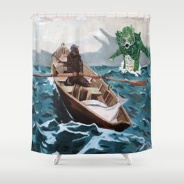 """Winslow Homer's """"Storm Warning"""" Revisted Shower Curtain"""
