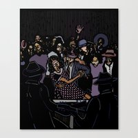 allyson johnson Canvas Prints featuring Robert Johnson by C.R.ILLUSTRATION