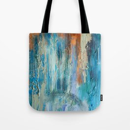 Symphony in Orange and Blue Tote Bag