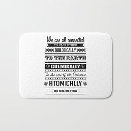 We Are All Connected (Black) Bath Mat