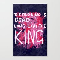 "coldplay Canvas Prints featuring ""Long Live The King""-Coldplay by Fabfari"