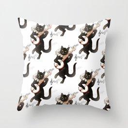 Dancing Cats Throw Pillow