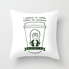 Coffee For Everyone. Throw Pillow