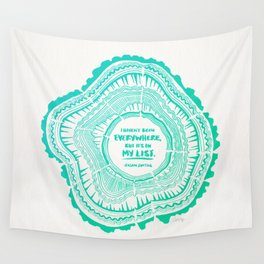 My List – Turquoise Ombré Wall Tapestry