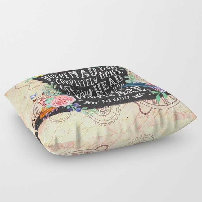 Mad Hatter Floor Pillow