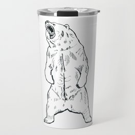Bear roar outline Travel Mug