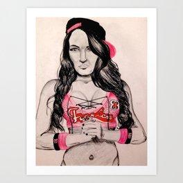 Fearless Nikki Art Print