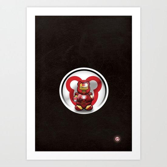 Super Bears - the Invincible One Art Print
