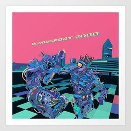 Bloodsport 2088 / Cyberpunk Art Print