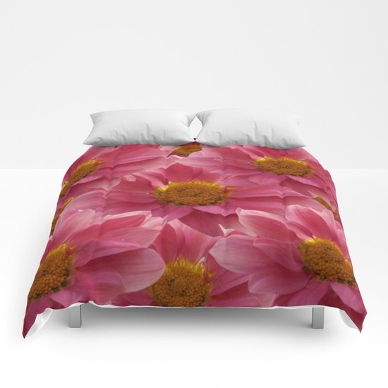 Pink Floral Bouquet Comforters