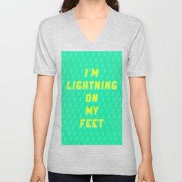 I'm Lightning On My Feet Unisex V-Neck
