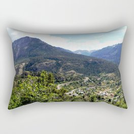 Ouray - At the Mouth of the Uncompahgre Gorge Rectangular Pillow