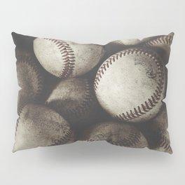 Grungy Baseballs on a Shelf Pillow Sham