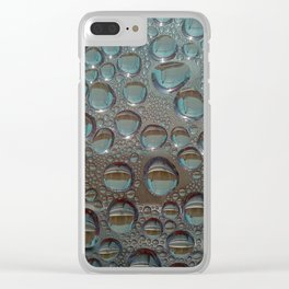 Drop of water condensation fractal Clear iPhone Case