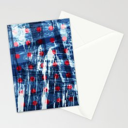 dots on blue ice Stationery Cards
