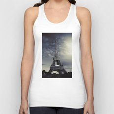 Dark Eiffel Unisex Tank Top
