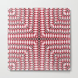 Plaid - Slither Red Star Metal Print