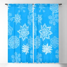 Snowflake Pattern (Light Blue) Blackout Curtain