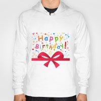 birthday Hoodies featuring Birthday by aleksander1