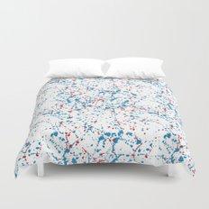 Splat Red White and Blue Duvet Cover