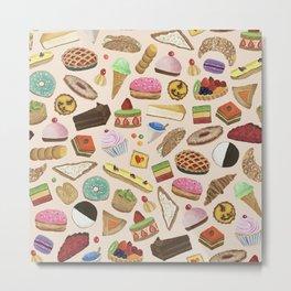 Desserts of NYC Cream Metal Print
