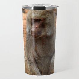 Hamadryas Baboon Travel Mug