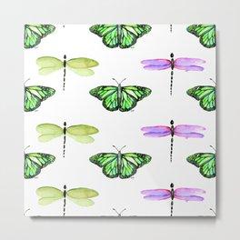 Dragonflies and Butterflies Metal Print