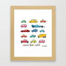 Cars for all Framed Art Print