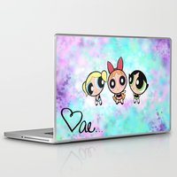 powerpuff girls Laptop & iPad Skins featuring Powerpuff Girls by Mind of Bae