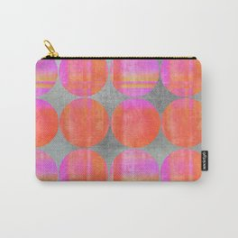 orange dots grunge mixed media modern pattern Carry-All Pouch
