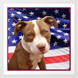 American Pitbull puppy Art Print