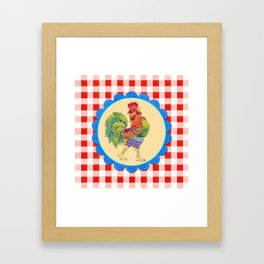 Rise and Shine Rooster Framed Art Print