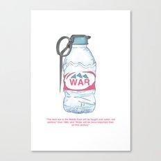 water bottle grenade  Canvas Print