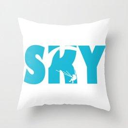 Skydiving Parachuting Throw Pillow