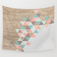 pastel Wall Tapestries featuring Archiwoo by Marta Li