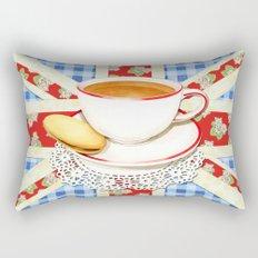 Union Jack and a Cup of Tea Rectangular Pillow