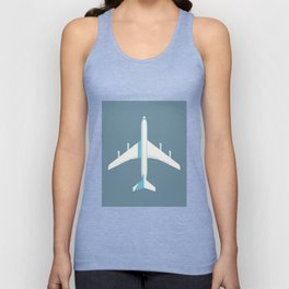 707 Passenger Jet Airliner Aircraft - Slate Unisex Tank Top