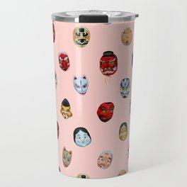 Masks in Asakusa Travel Mug