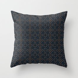 gothic star shapes pattern on the deep background Throw Pillow