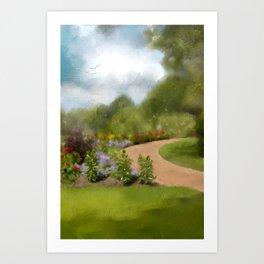 Down That Path Again Art Print