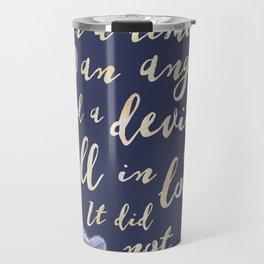 Daughter of Smoke and Bone quote design Travel Mug
